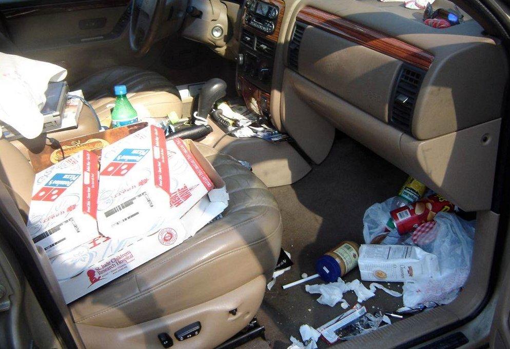 Chuột trên xe ô tô khiến khoang xe bẩn và hôi hơn.