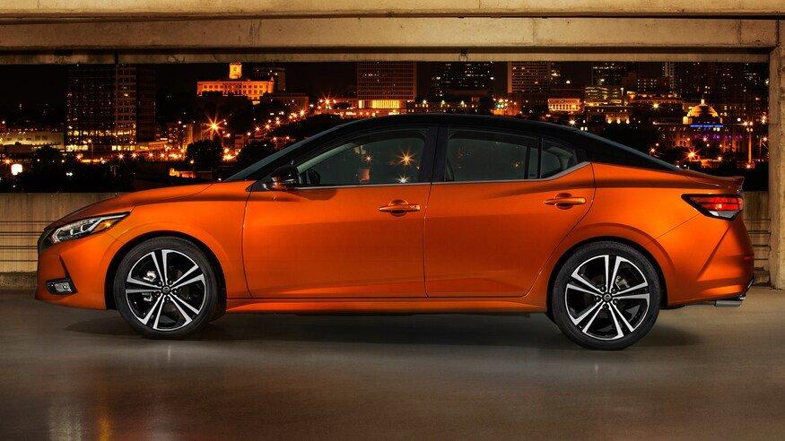Đánh giá xe Nissan Sentra 2020 về thân xe: chính diện thân xe