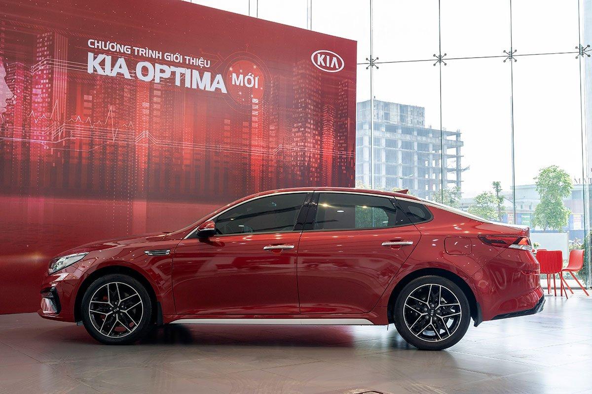 So sánh xe Kia Optima 2019 và Honda Accord 2020 về thiết kế thân xe.