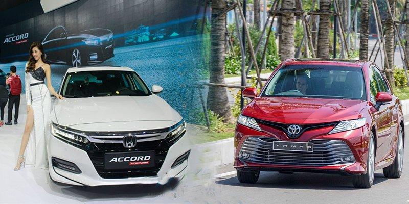 So sánh xe Toyota Camry 2019 và Honda Accord 2020.
