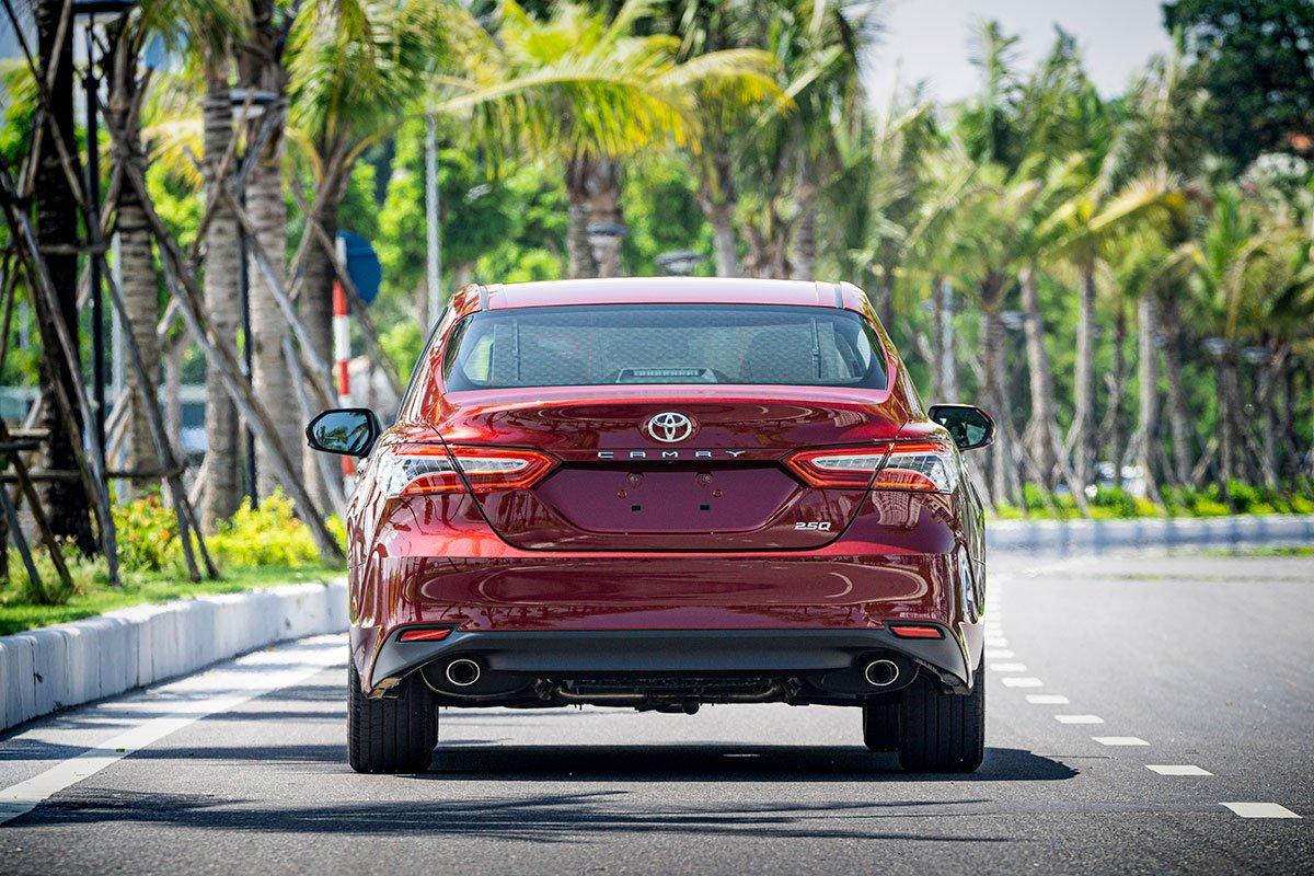 So sánh xe Toyota Camry 2019 và Honda Accord 2020 về thiết kế đuôi xe.