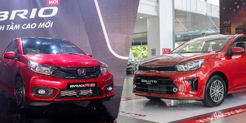 Khoảng giá 450 triệu đồng, mua Honda Brio 2019 hay Kia Soluto 2019?.