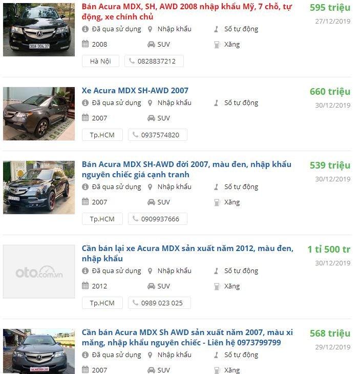 Giá xe Acura MDX cũ tại Việt Nam là bao nhiêu? Có nên mua lại để đi Tết? 5a