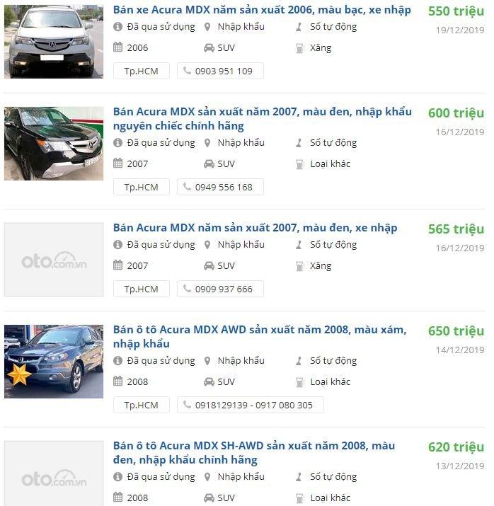 Giá xe Acura MDX cũ tại Việt Nam là bao nhiêu? Có nên mua lại để đi Tết? 4a
