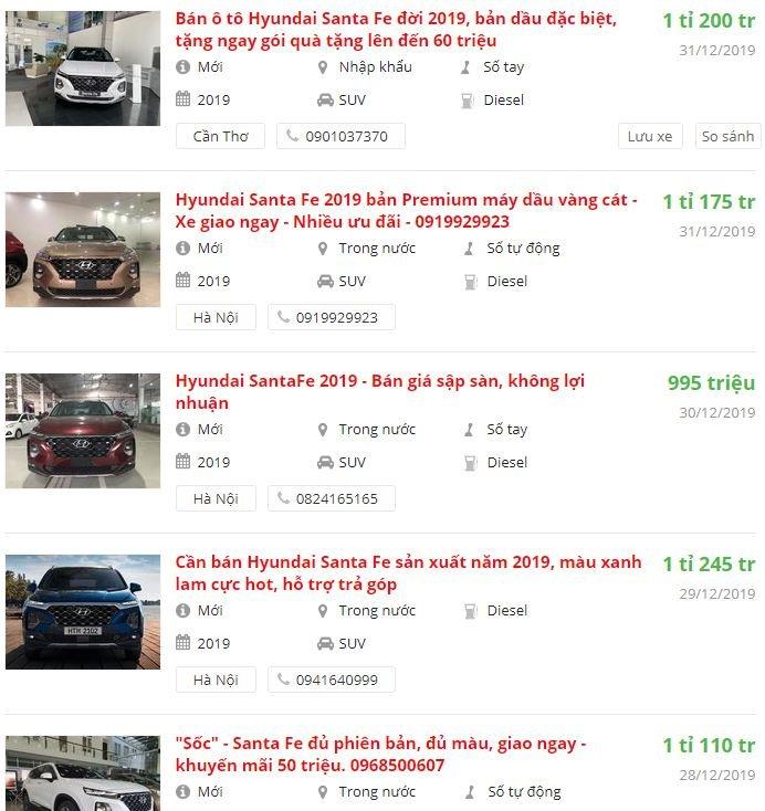 Hyundai Santa Fe giảm giá mạnh tại đại lý, đẩy nhanh hàng tồn kho 2a