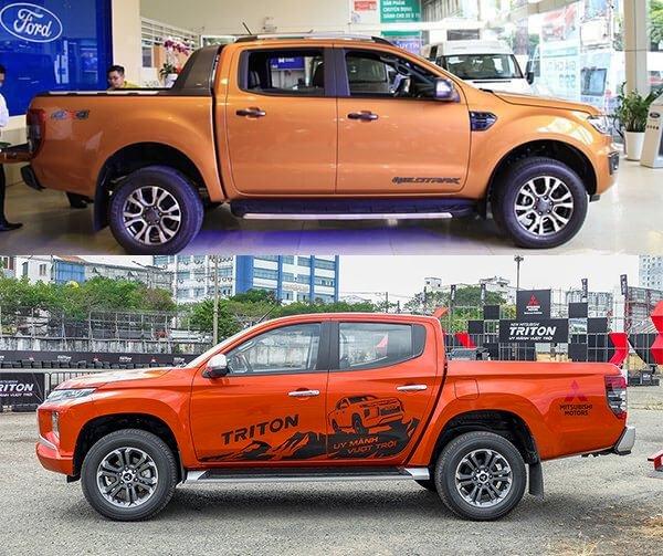 So sánh Mitsubishi Triton với Ford Ranger