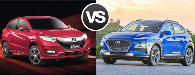 So sánh Hyundai Kona với Honda HRV