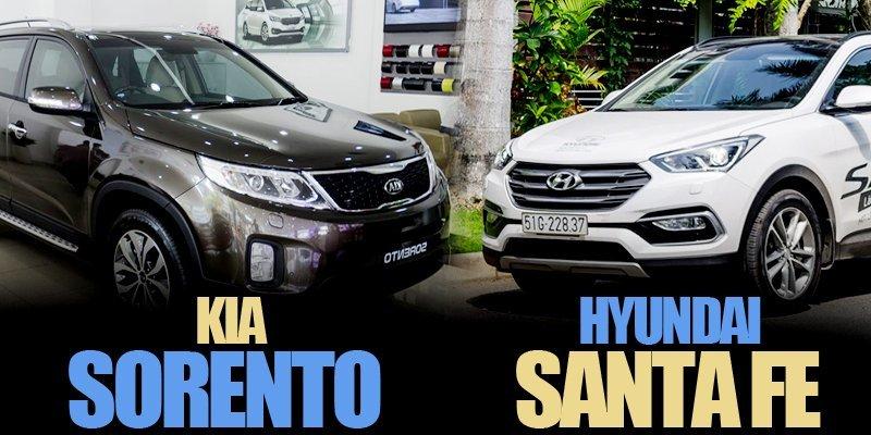 So sánh Kia Sorento với Hyundai SantaFe