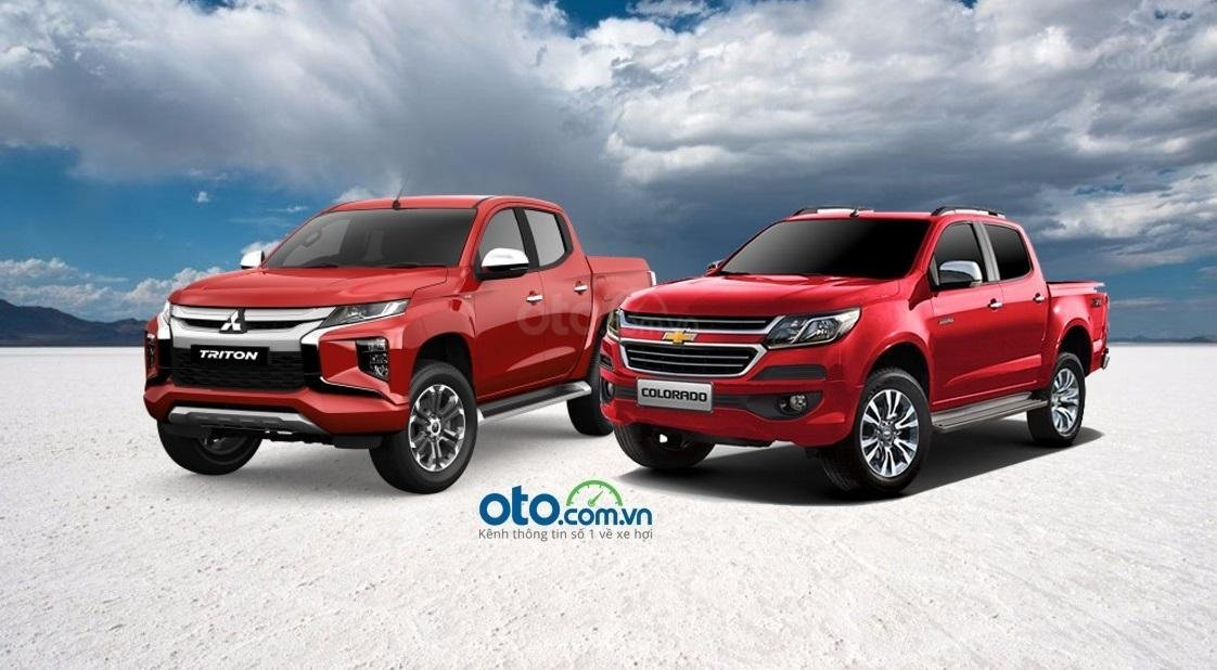 So sánh Chevrolet Colorado với Mitsubishi Triton 2019