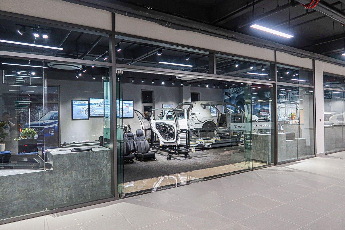 Phòng trưng bày công nghệ mới có trên các mẫu xe Hyundai.