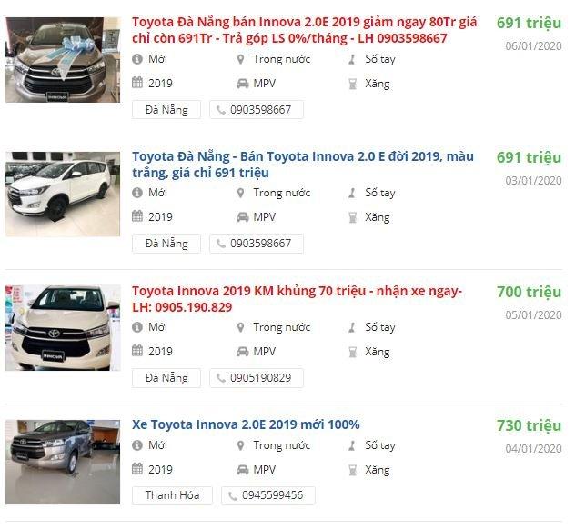 Toyota Innova giảm giá khoảng 80 triệu đồng tại đại lý miền Trung 1