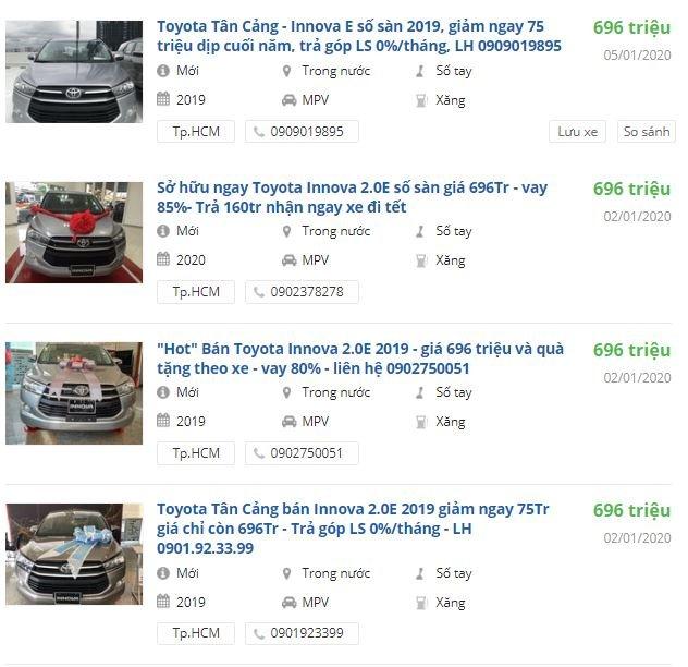 Toyota Innova giảm giá 75 triệu đồng tại đại lý Hồ Chí Minh 1