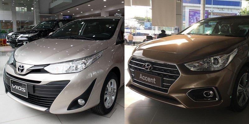 So sánh xe Toyota Vios 2020 và Hyundai Accent 2020 a1