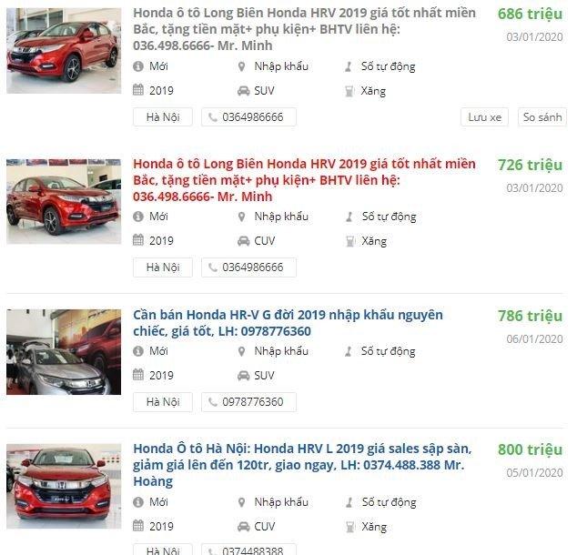 Honda HR-V giảm giá tại đại lý 1