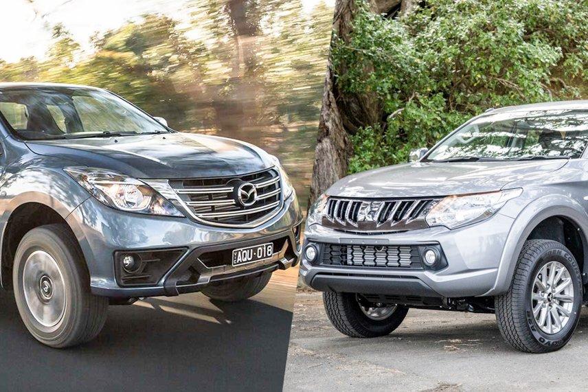 So sánh Mazda BT-50 với Mitsubishi Triton
