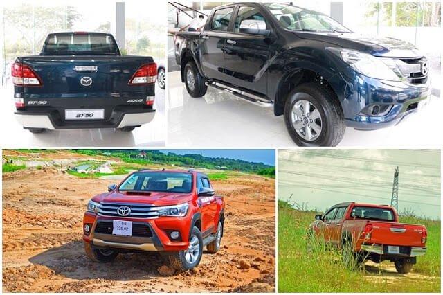 So sánh Mazda BT-50 với Toyota Hilux