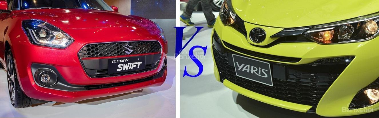 So sánh Toyota Yaris hay Suzuki Swift
