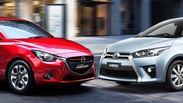 So sánh Toyota Yaris hay Mazda 2 hatchback