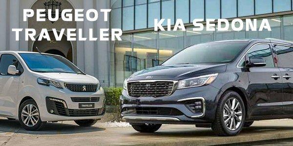 So sánh xe Kia Sedona và Peugeot Traveller