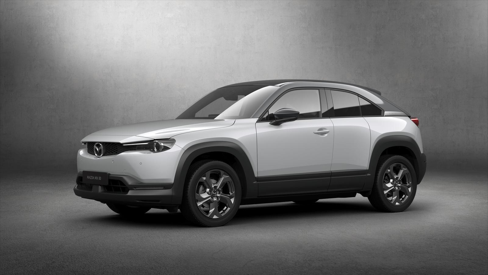 Đánh giá xe Mazda MX-30 2021 về thân xe: góc 3/4 thân xe