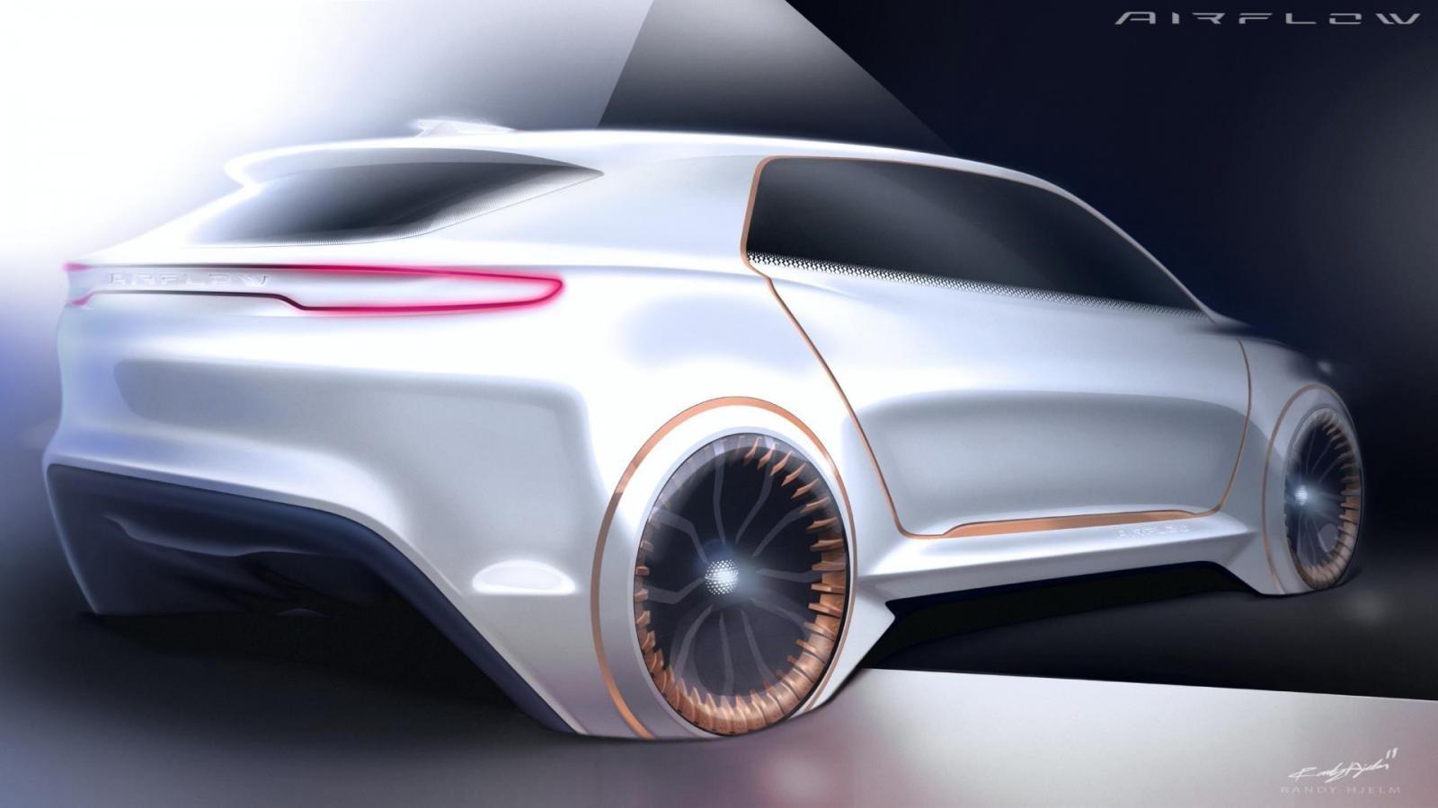 FCA Airflow Vision Concept có các bánh xe khá kỳ lạ.