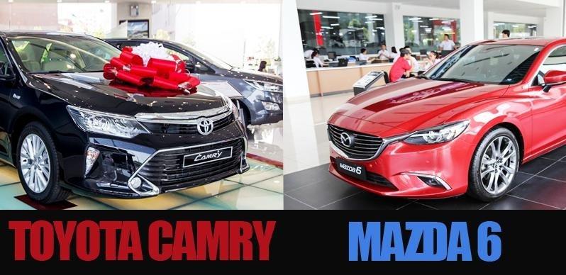 So sánh xe Mazda 6 và Toyota Camry