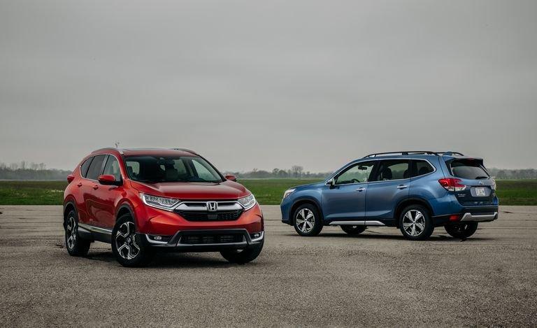 So sánh xe Subaru Forester và Honda CR-V