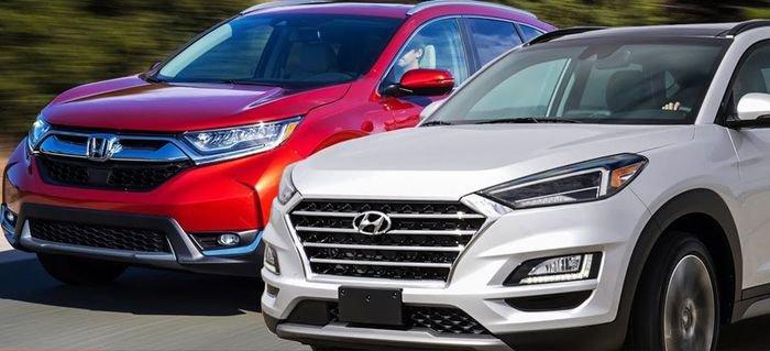 So sánh xe Honda CR-V với Hyundai Tucson