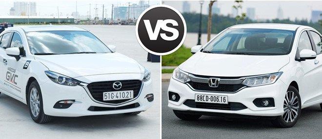 So sánh xe Honda City và Mazda 3