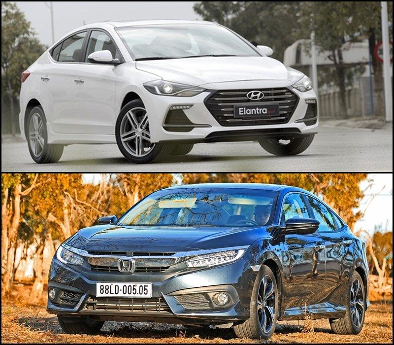 So sánh xe Hyundai Elantra và Honda Civic