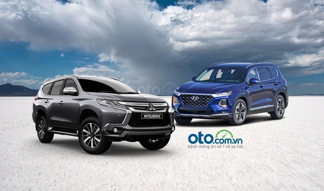 So sánh xe Hyundai SantaFe và Mitsubishi Pajero Sport