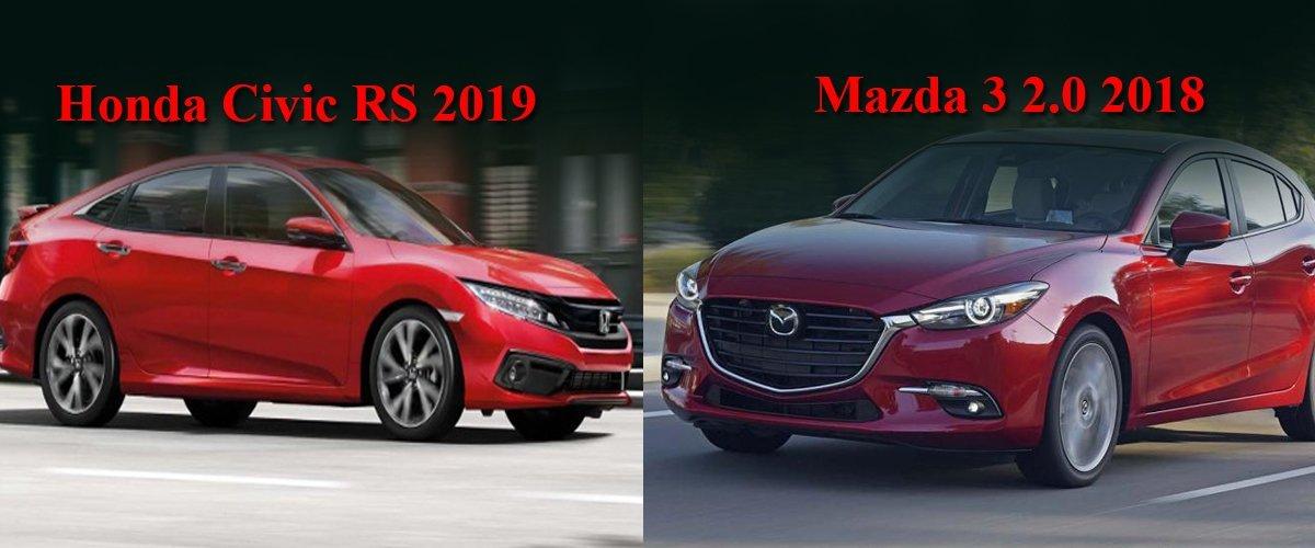 So sánh xe Honda Civic và Mazda 3