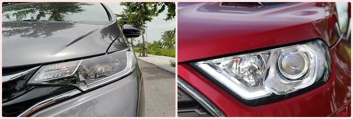 So sánh xe Honda Jazz 2020 và Ford EcoSport 2020: Thiết kế đèn pha 1