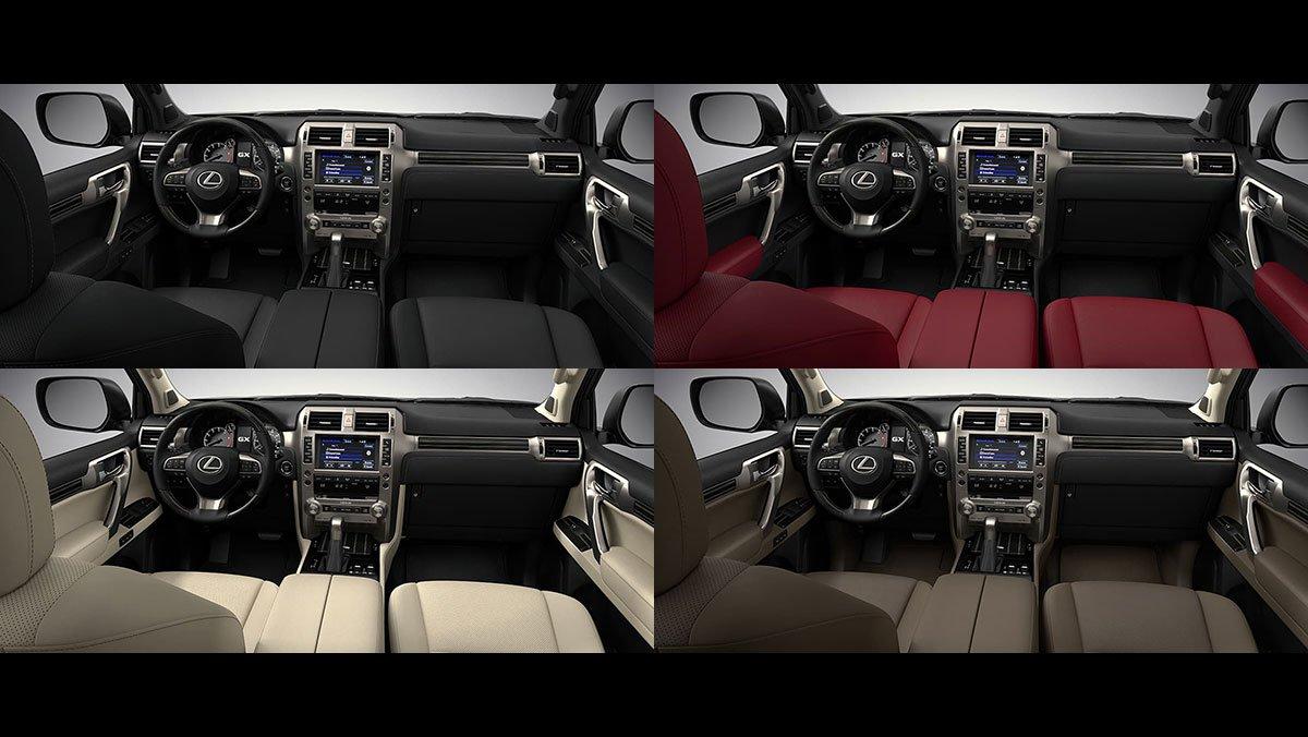 Đánh giá xe Lexus GX 460 2020 - Màu sắc nội thất.