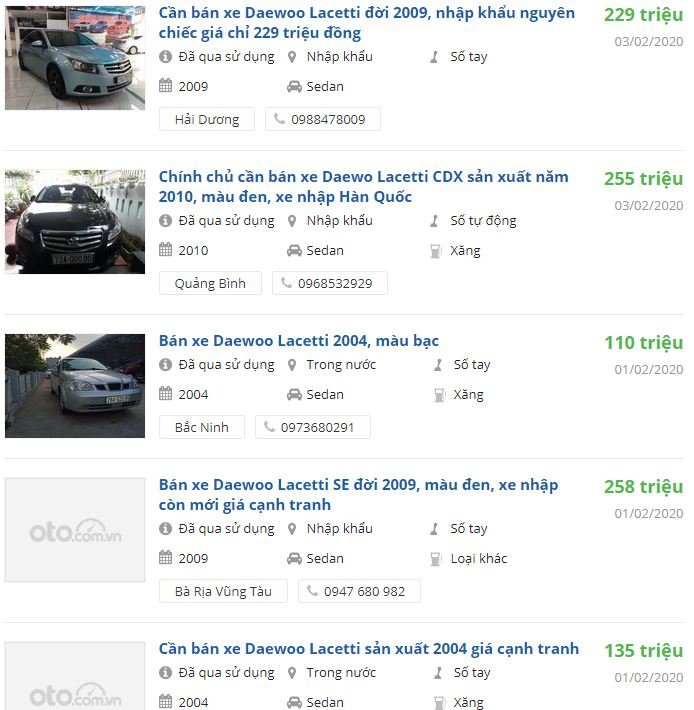 Có nên mua Lacetti cũ, giá xe Lacetti cũ tại Việt Nam 7a