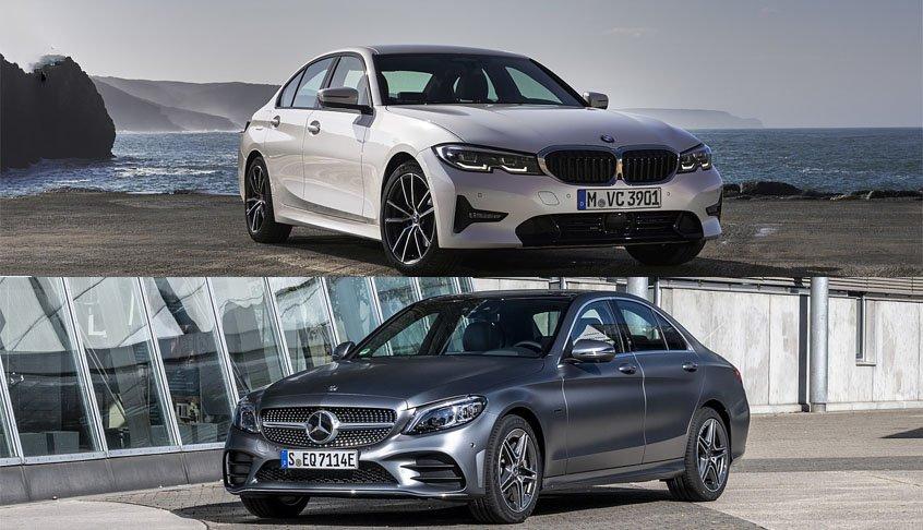 So sánh xe Mercedes C200 với BMW 3 Series 2020