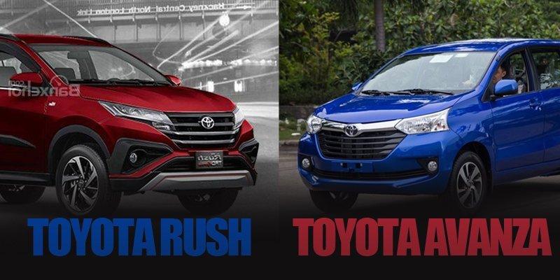 So sánh Toyota Rush với Toyota Avanza