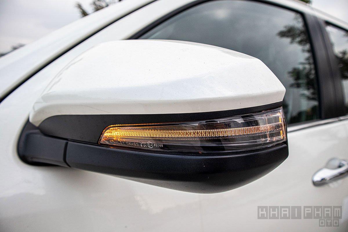 Ảnh chụp gương chiếu hậu xe Toyota Fortuner 2020