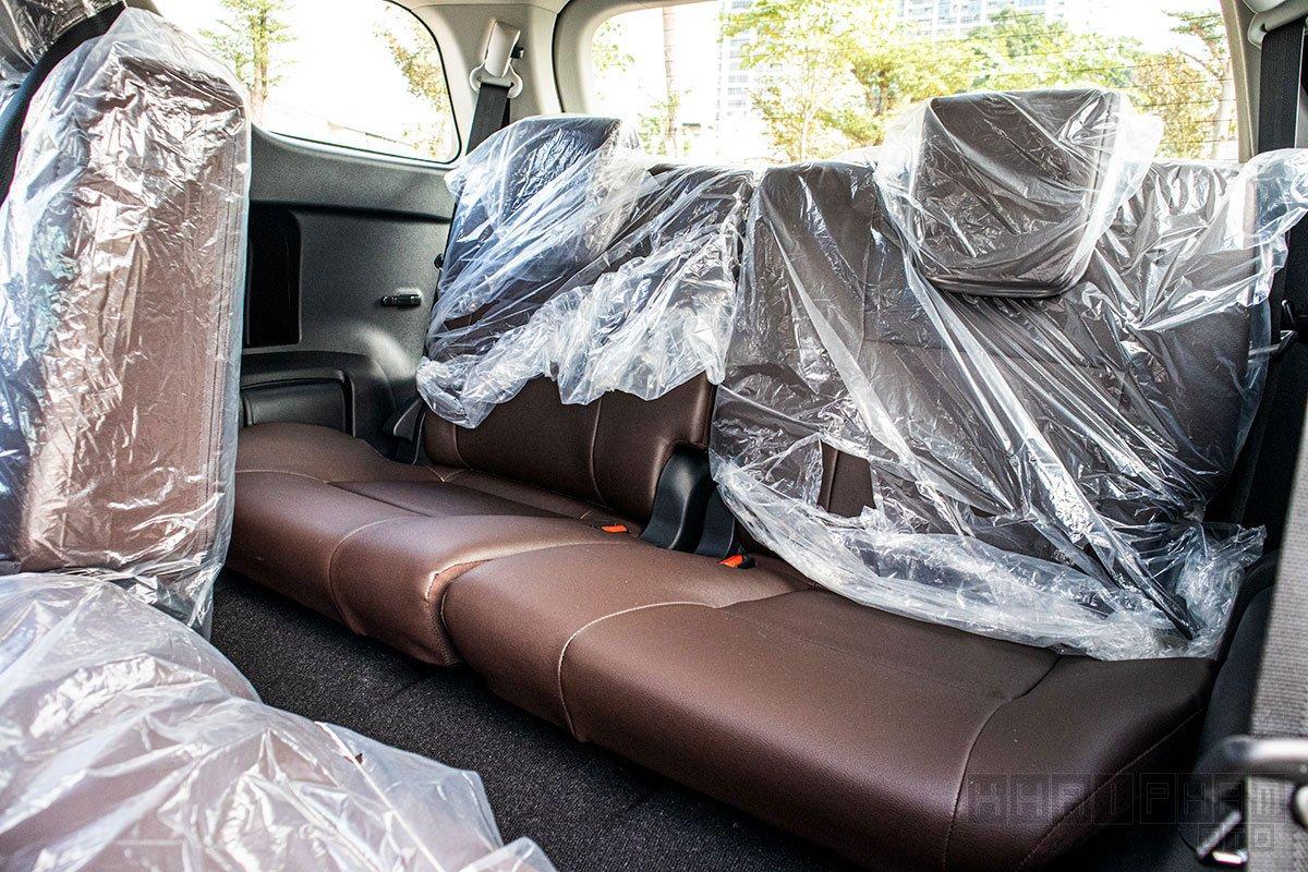 Ảnh chụp ghế thứ 3 xe Toyota Fortuner 2020