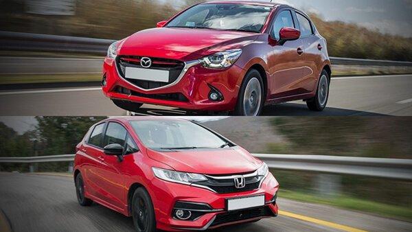 So sánh Honda Jazz với Mazda 2