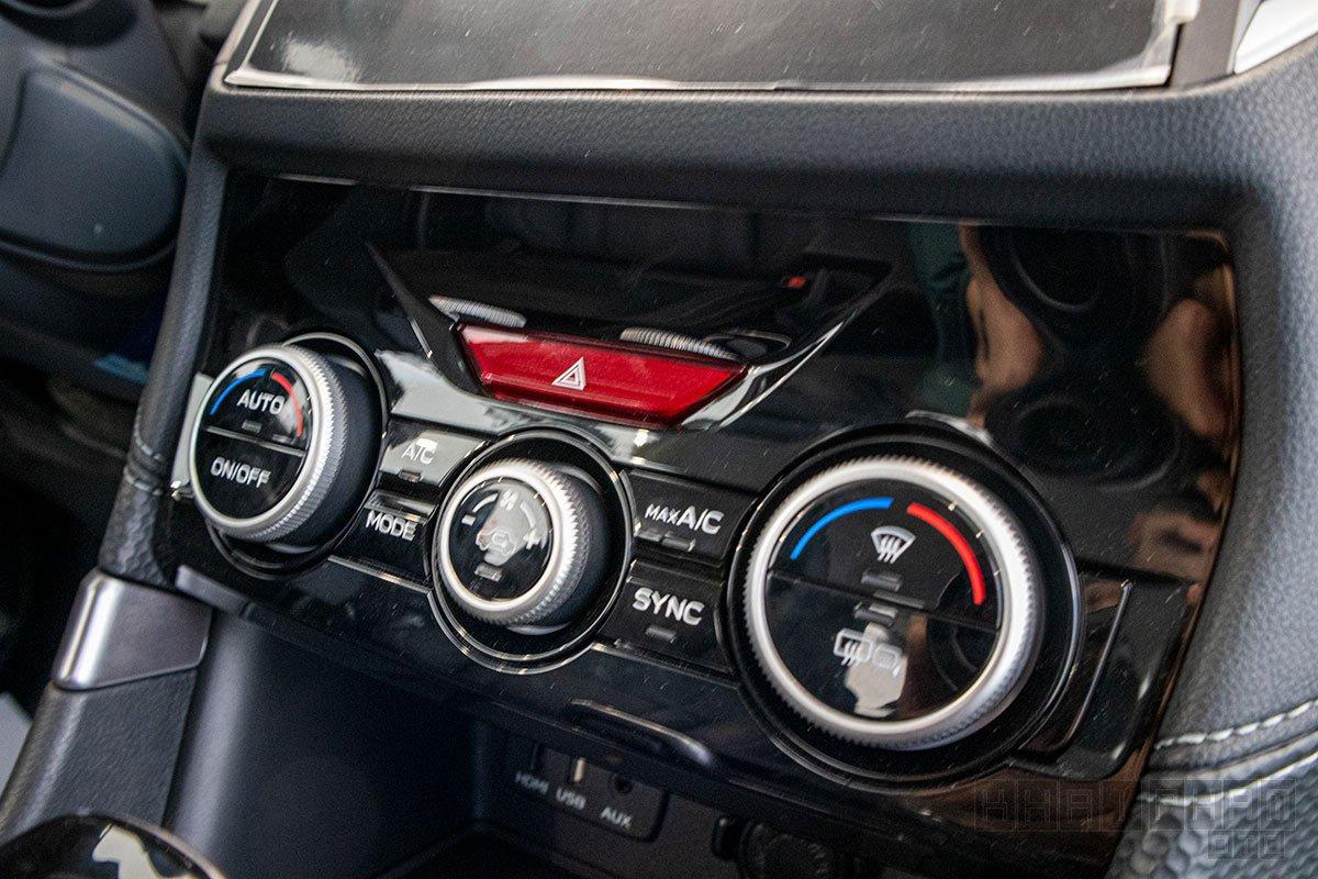 Ảnh chụp cụm điều hoà xe Subaru Forester 2020