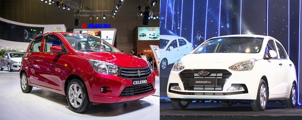 So sánh xe Suzuki Celerio với Hyundai Grand i10