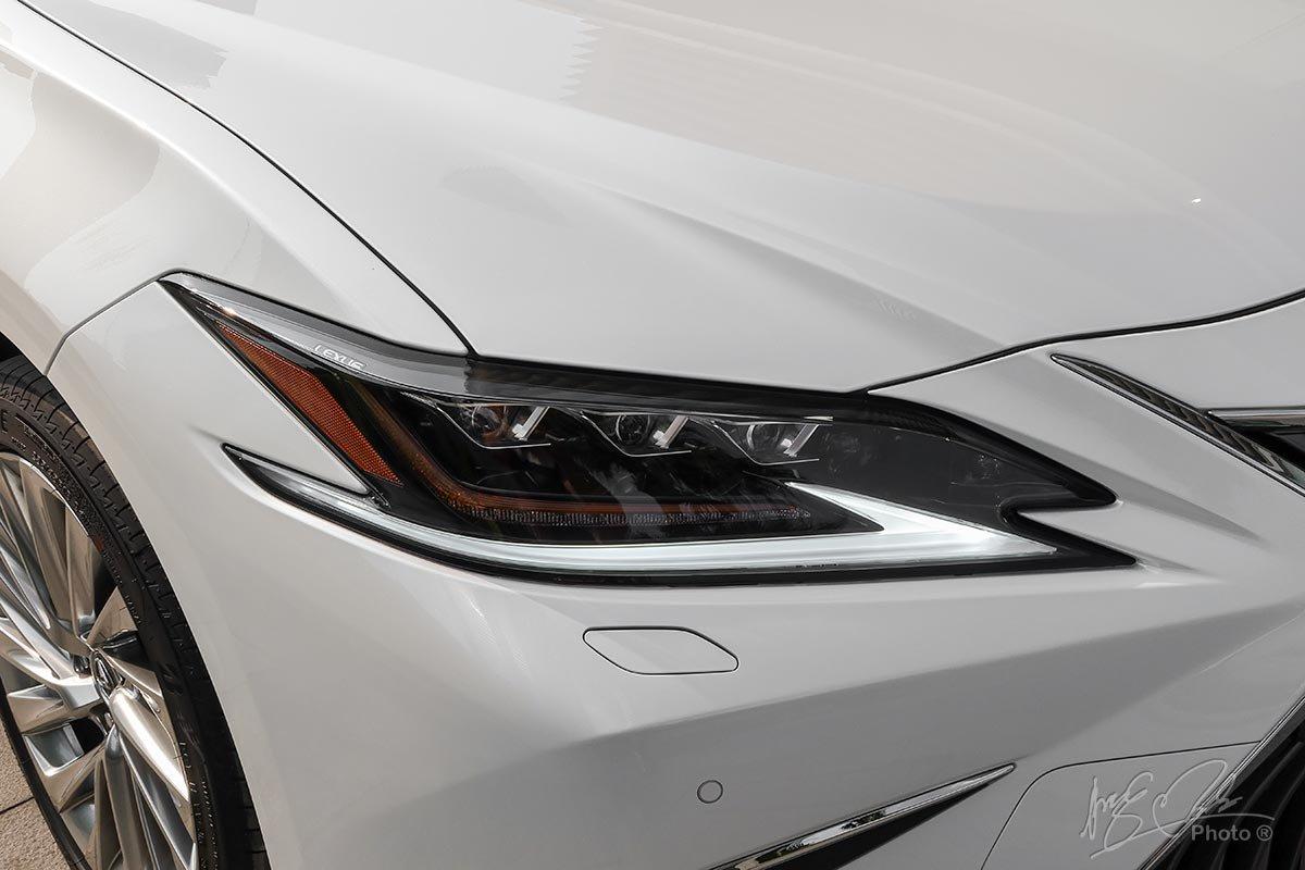Đánh giá xe Lexus ES 250 2020: Dải LED ban ngày hình móc câu đặc trưng của Lexus.