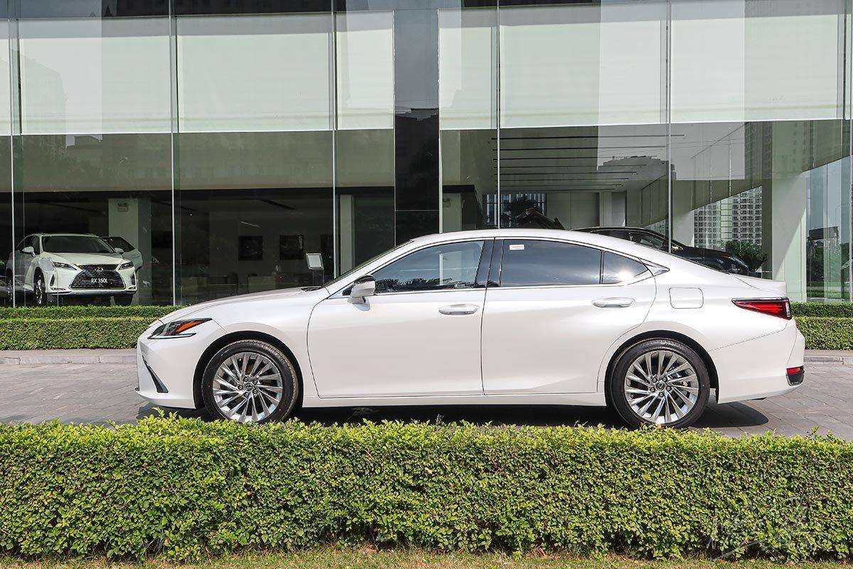Đánh giá xe Lexus ES 250 2020: Thân xe mang nhiều nét thể thao hơn.
