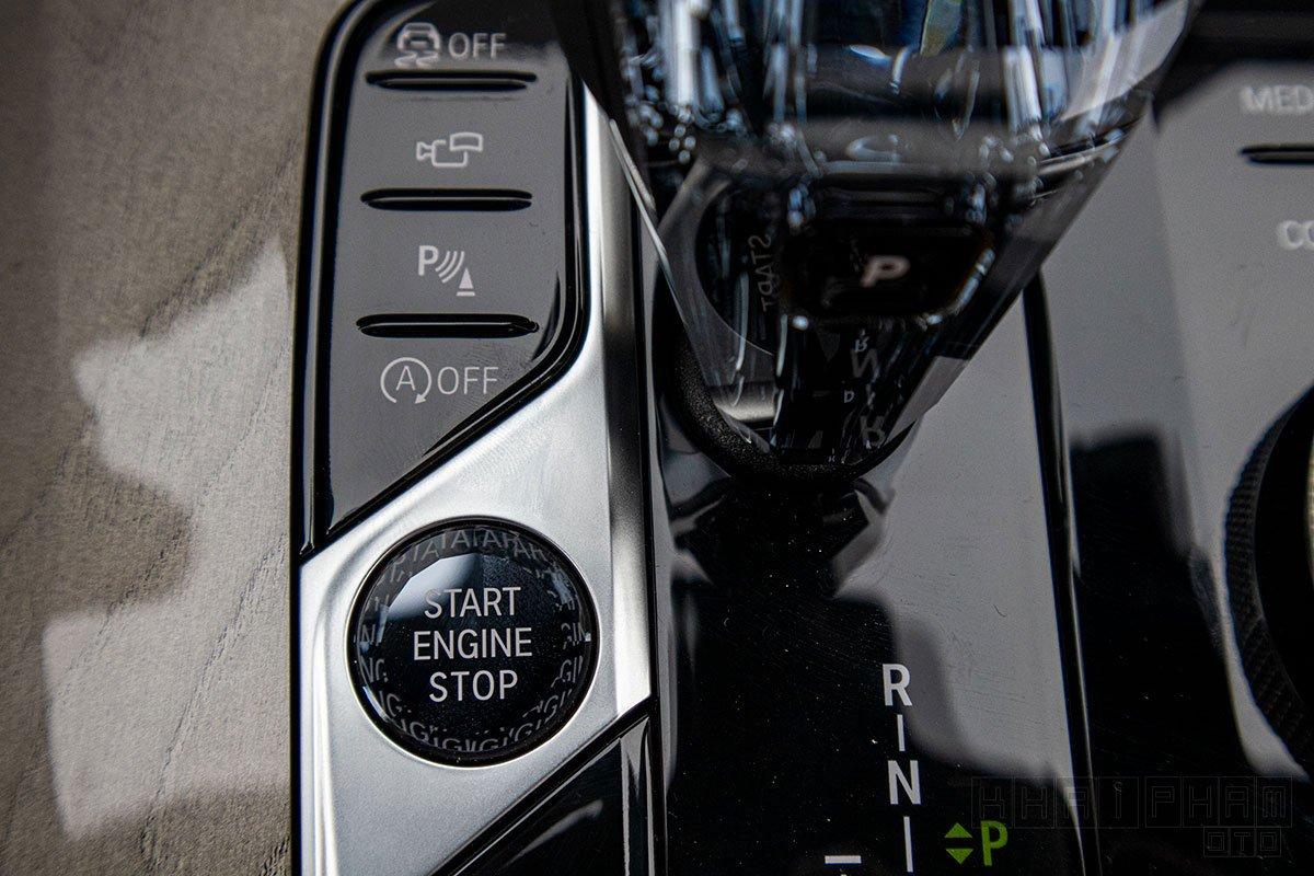 Ảnh chụp nút bấm khởi động xe BMW X7 2019-2020