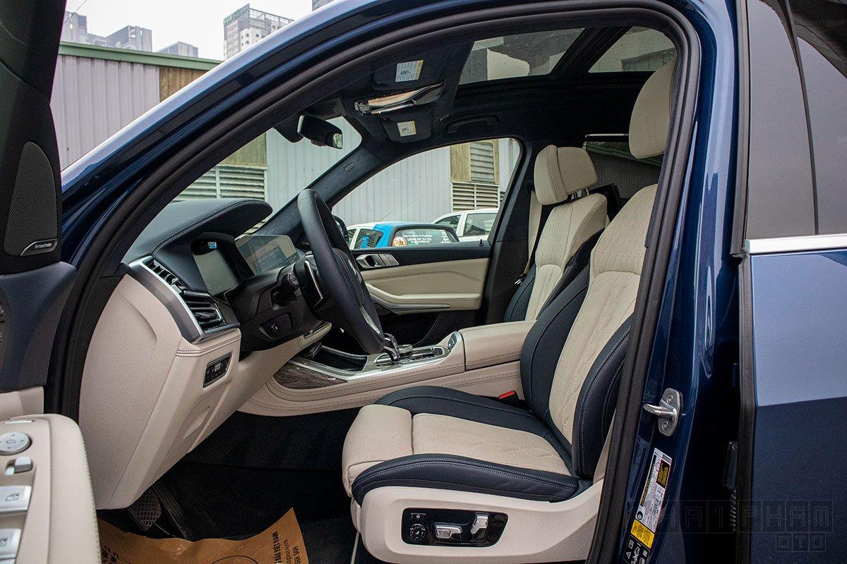 Hình ảnh ghế trước xe BMW X7 2019-2020