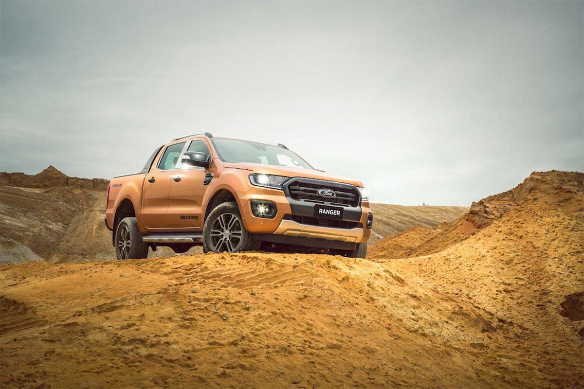 Các phiên bản của Ford Ranger 2020 được nâng cấp chủ yếu ở phần ngoại thất đầu xe.