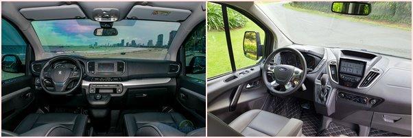 So sánh xe Ford Tourneo 2020 vàFord Tourneo 2020 về nội thất và tiện nghi a1