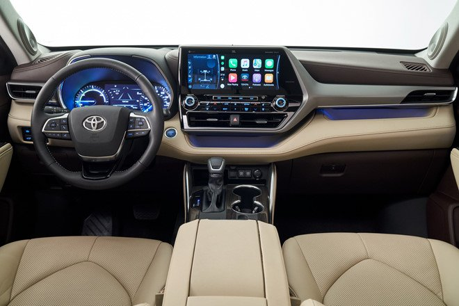 Nội thất xe Toyota Highlander 2020