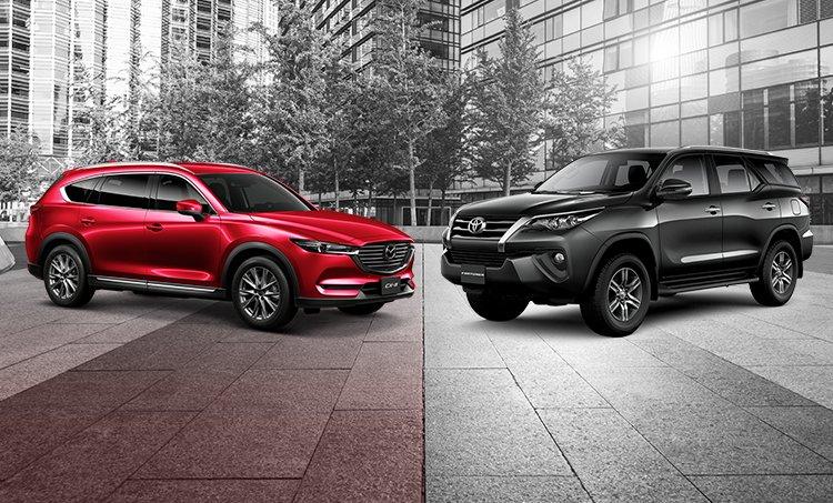 So sánh Mazda CX-8 với Toyota Fortuner